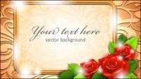 Fronti��re Roses 01 - mat��riel vecteur