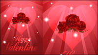 Beautiful valentine background 01 - vector material
