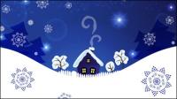Noël fond bleu 04 - mat��riel vecteur