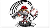Cartoon Baseball-Charakter 04 - Vektor Material