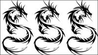 En forma de drag¨®n patrones 03 - vector de material