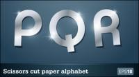 Star-Papier-Schnitt Briefe 04 - Vektor Material