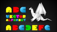 Alfabeto Creativo 01 - vector de material