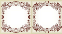 Feine Muster Grenze 01 - Vektor Material