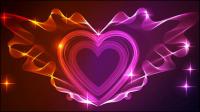 Valentine wunderschönen Licht 01 - Vektor Material