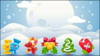 Mat��riau f��te de Noël 03 - mat��riel vecteur