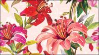 Las flores fondo 05 - vector de material