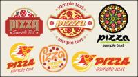 Pizza de bande dessin��e 01 - mat��riel vecteur