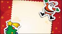 Noël carte de voeux - vecteur mat��riel