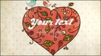 Valentine fond de carte 03 - mat��riel vecteur