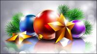 Beau Noël fond d��coratif 01 - mat��riel vecteur