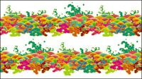 Xiangyun el agua de mar antiguo material de vectores de patrones