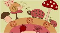 Cartoon Illustration Hintergrund 02 - Vektor Material