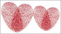 Romantique en forme de coeur mod��le 01 - mat��riel vecteur
