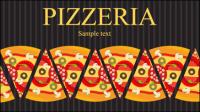Pizza illustrateur 04 - mat��riel vecteur
