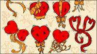 Wunderschön handbemalte rote 01 - Vektor Material