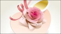 Hermosas rosas 04 - vector de material