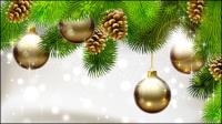 Navidad hermosa bola 03 - vector de material
