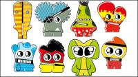 Cartoon Little Monsters 02 - mat��riel vecteur