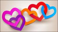 Valentine ��l��ments tag 01 - mat��riel vecteur