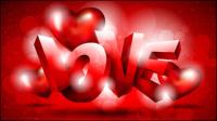 Fancy Valentine Hintergrund 02 - Vektor Material