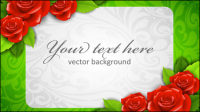Roses fronti��re 03 - mat��riel vecteur