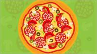 Pizza illustrateur 02 - mat��riel vecteur