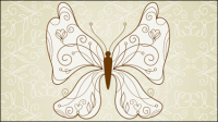Beau motif de papillon 05 - mat��riel vecteur