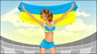 Él��ments de Soccer de dessins anim��s 02 - mat��riel vecteur
