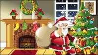 Noël sc��ne illustrateur 02 - mat��riel vecteur