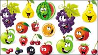 Expression de fruit de dessin anim�� - vecteur mat��riel