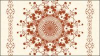 Exquisite europäischen Muster 02 - Vektor Material