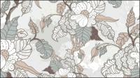 Line art Muster Hintergrund 05 - Vektor Material