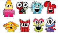 Cartoon Little Monsters 01 - vector de material