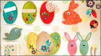 Cartoon Egg Illustration Hintergrund 01 - Vektor Material
