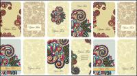 Tarjeta floral retro - vector de material