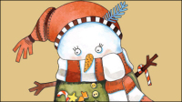 Weihnachts-Karikatur Illustrator 02 - Vektor Material