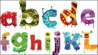 Alfabeto de dibujos animados - vector de material