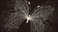 Schöne Schmetterling Muster 01 - Vektor Material