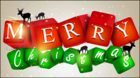 Color de fondo con elementos de la Navidad 05 - vector de material