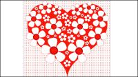 Saint Valentin de carte en forme de coeur 03 - mat��riel vecteur