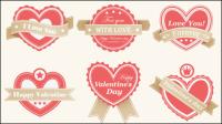 Étiquettes Valentine - vecteur mat��riel