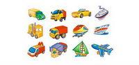 Lovely style icône vecteur mat��riel de transport