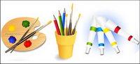 Palette, Pinsel, Farbstiften, Farbe Vektor