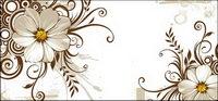 Chrysanth��me sauvage et de la mode tendance vecteur mat��riel