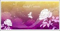 Significado de los sueños de mariposas rosas silueta vector de fondo