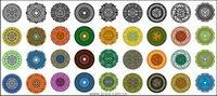Vielzahl von klassischen Elementen in einem kreisförmigen Muster Vektor Material-1