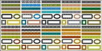 Vielfalt der klassischen Material Spitzen-Serie Vektor-1