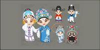 Opera Zeichentrickfiguren Vektor (1)
