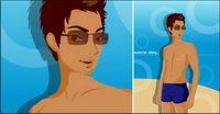 Vector mat��riel de maillots de bain hommes